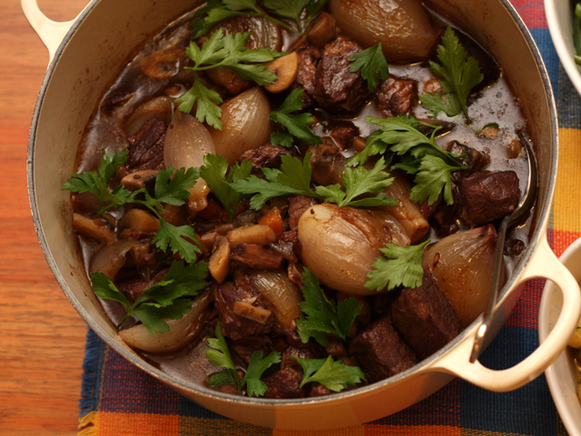 Julia Child's famous Boeuf bourguignon