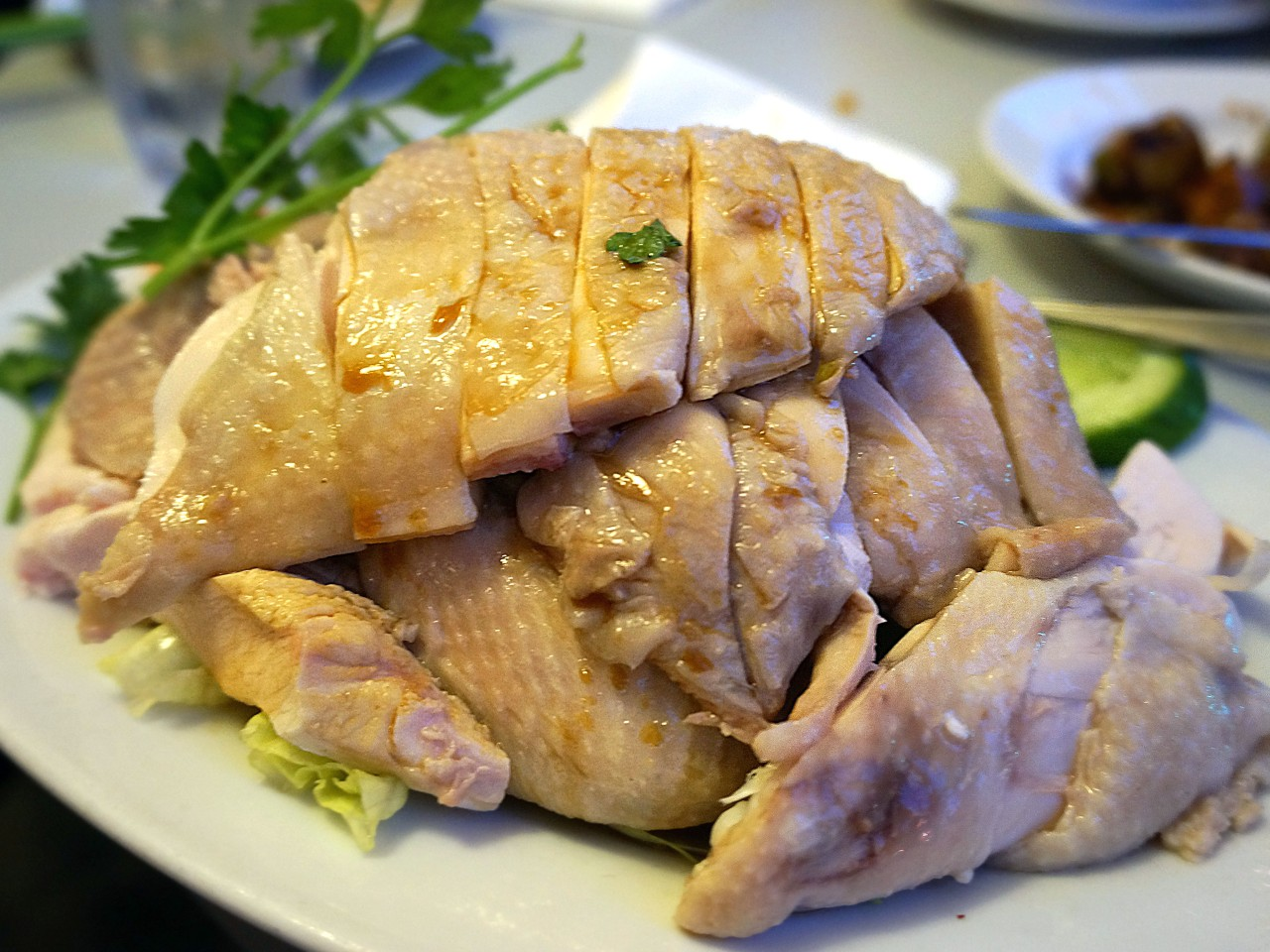 Boneless Half Hainanese Chicken - 'Rice not included' {$25}