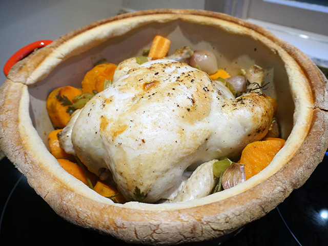 chicken in a pot - ready to eat
