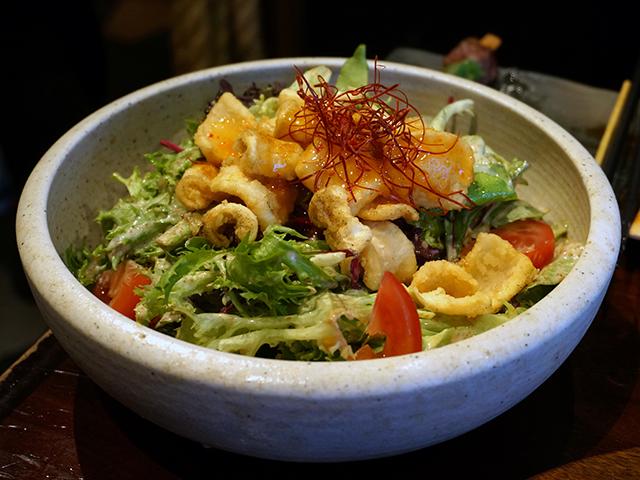 salt and pepper squid salad