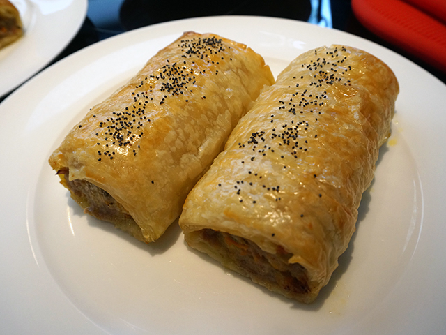 Justin North's pork and fennel sausage rolls