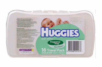 Huggies travel wipes case