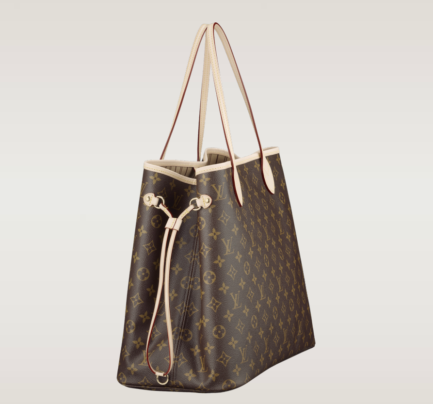 LV Neverfull GM cinched in