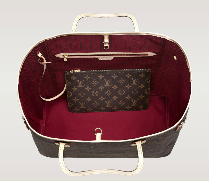 LV Neverfull GM inside