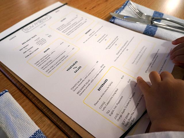 nieuw amsterdam menu
