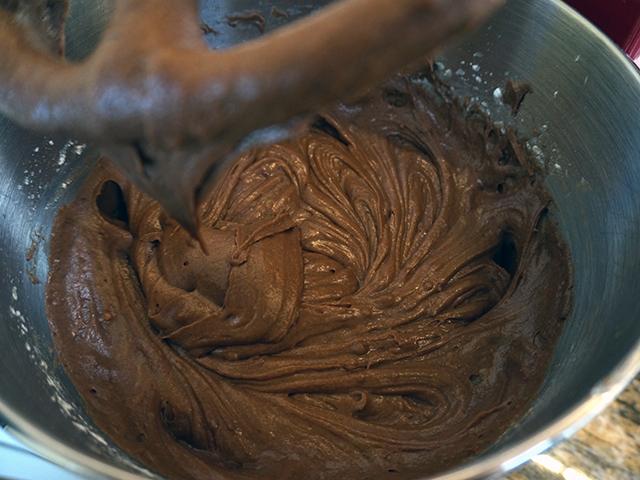 add flour and sour cream
